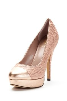 Rose Gold + Peach Snakeskin Pumps (Vince Camuto via HauteLook)