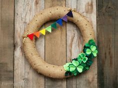 Bring the spirit of Ireland to your front door with this gorgeous DIY wreath that's perfect for celebrating St. This Lucky Shamrocks St. Patricks' Day Wreath is the best way to show off your love of the Emerald Isle with a simple hand Holiday Wreaths, Holiday Crafts, Holiday Fun, Holiday Decor, Diy Wreath, Wreath Ideas, Door Wreaths, Wreath Forms, Luck Of The Irish