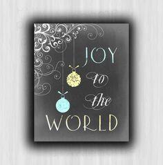 Christmas Printable, Joy to the World, Instant download, Chalkboard Christmas Print, black, winter, Digital, Christmas, DIY Christmas decor by PrintableHome on Etsy https://www.etsy.com/listing/171211775/christmas-printable-joy-to-the-world