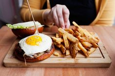 Not hungry? You are now. #breakfast #eggs #bacon #fries #food