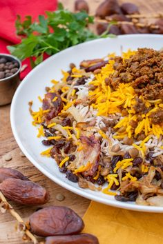 Adas Polo is a tasty Persian rice dish with lentils, raisins and dates. Lentils provide a source of protein, while raisins and dates give natural sweetness. Arabic Dessert, Arabic Food, Arabic Sweets, Polo Recipe, Indian Dessert Recipes, Ethnic Recipes, Persian Rice, Date Recipes, Persian Recipes