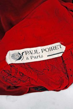 Vintage and Designer Evening Dresses and Gowns - For Sale at Vintage Couture, Vintage Fashion, 1920s Vintage Dresses, Paul Poiret, Girl Silhouette, French Fashion Designers, Vintage Embroidery, Red Silk, Up Styles