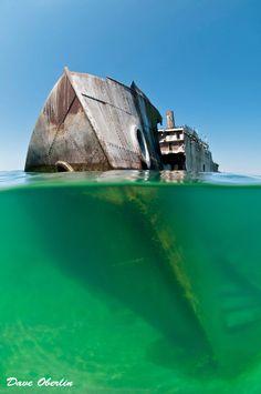 Francisco Morazan shipwreck on South Manitou Island.