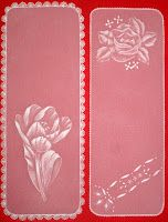 """emboss on vellum  or """"Parchment craft"""" , these bookmarks are good for the beginners. in spanish: """"TARJETERÍA ESPAÑOLA   visit me at My Personal blog: http://stampingwithbibiana.blogspot.com/"""