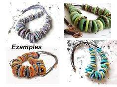 Tutorial  Polymer clay necklace Bagels by LyamayevaCraft on Etsy, €20.00
