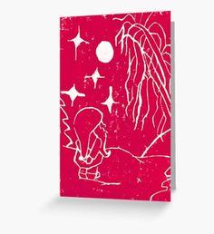 Winter Elf Cherry Pink Greeting Card Winter Illustration, Illustration Art, Original Paintings, Original Art, Snowy Trees, Winter Fairy, Green Palette, Winter Painting, Nature Artwork