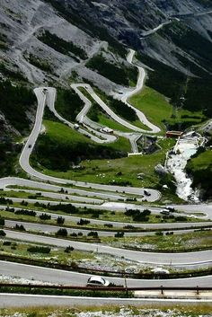 balls-n-all: eccellenze-italiane: Passo dello Stelvio shot by Clemente Napolitano (don't remove the credit) balls-n-all: I'm on the road to nowhere… Wonderful Places, Beautiful Places, Travel Around The World, Around The Worlds, Dangerous Roads, Italy Landscape, Landscape Design, Beautiful Roads, Winding Road
