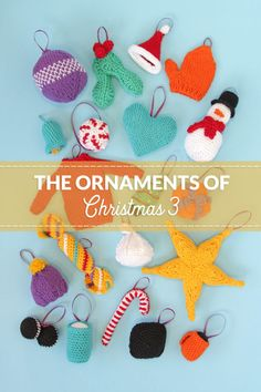 Knit or crochet some adorable ornaments to trim your tree! Get your hands on 12 free knit and crochet patterns for Christmas ornaments. Each ornament doubles as a great gift topper & stocking stuffer! Knitting Patterns Free, Free Knitting, Free Pattern, Crochet Patterns, Crochet Christmas, Christmas Knitting, Crochet Stocking, Online Yarn Store, Xmas