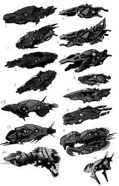 Space Ship Concepts by ~simmi on deviantART