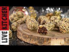 Υγιεινές (Νηστίσιμες) τρούφες με 3 Υλικά | Τρουφάκια με Αμύγδαλο | Only 3 ingredients Vegan truffles - YouTube Kitchen Living, Vegan Desserts, Truffles, Food To Make, Healthy Eating, Chocolate, Breakfast, Sweet, Recipes