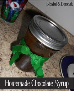 Chocolate Sauce Recipe.  I use this recipe with water and sometimes I sub Splenda. I do not like the Splenda version for ice cream but it is great in chocolate milk.