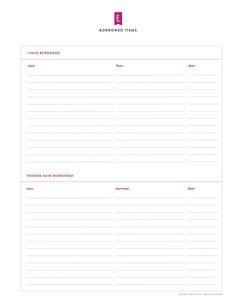 Free printable library – Emily Ley