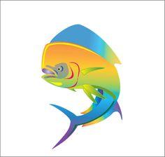 Dolphin Fish / Mahi vector art