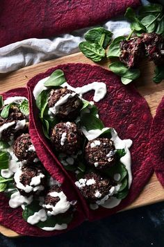 Vegan lunchbox inspiration is here! Wholesome, baked Beetroot & Black Bean Bites combined with garlicky cashew soured cream. Keep your lunchtimes healthy!