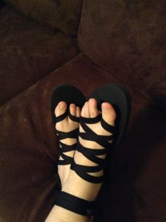 No Other Refuge: DIY Sandals (Made from Cheap Flip Flops)