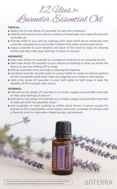 doTERRA Lavender Essential Oil Uses  https://www.mydoterra.com/juliezacek/#/