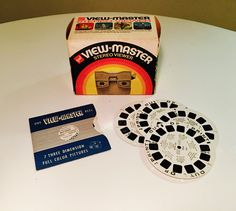 Vintage GAF View Master In Original Box With 5 x Disney Mixed Reels - 1960 by vintagetoolbox on Etsy