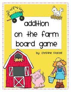 Addition on the Farm Board Game by Christine Statzel Classroom Freebies, Math Classroom, Classroom Projects, Classroom Ideas, Addition Facts, Math Addition, Student Teaching, Teaching Kids, Teaching Tools