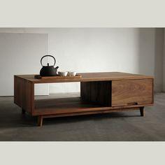 [Translation] wood black walnut wood furniture oak wood coffee table minimalist Nordic Chinese Japanese Muji