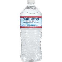 Crystal Geyser Alpine Spring Water, 1 Liter, 15 ct