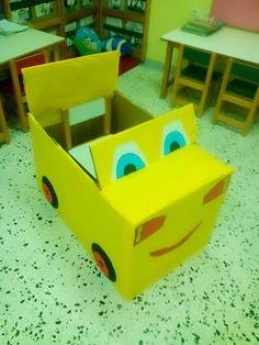 παιχνιδοκαμώματα στου νηπ/γειου τα δρώμενα: άλλος για το....... νηπιαγωγείο μας !!! First Day Of School, Back To School, Kids Playing, Logos, Gifts, Decorations, Pranks, Activity Toys, Carton Box