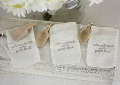 Rustic Wedding Favor Bags Coffee Theme With Wood by braggingbags, $82.50