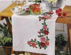 Gallery.ru / Фото #1 - ***** - celita Cross Stitch Flowers, Cross Stitch Patterns, Flower Pillow, Needlework, Shabby, Table Decorations, Embroidery, Tableware, Handmade