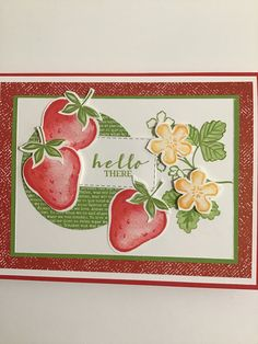 Strawberry Blueberry, Strawberry Fields, Handmade Greetings, Greeting Cards Handmade, Old Fashioned Photos, Happy Anniversary Cards, Star Cards, Summer 3, Color Card