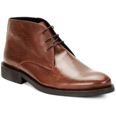 Bugatchi Leather Lace-Up Shoes ($120) ❤ liked on Polyvore featuring men's fashion, men's shoes, men's dress shoes, mens dress shoes and mens shoes