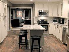 Hummelstown Pennsylvania kitchen renovation features CliqStudios Dayton Painted White cabinets