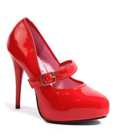 Look at this #zulilyfind! Ellie Shoes Red Lady Jane Pump by Ellie Shoes #zulilyfinds