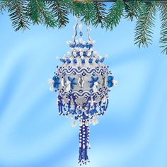 """Herrschner's Inc. Ornament Kit - """"Rhapsody in Blue,"""" Collector Series Ornament No. 44 - Item # 511545 (discontinued)"""