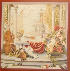 The Port of Tuscany tapestry is a French wall hanging with an antiqued appearance finely woven in wool and cotton. Metal Wall Art Decor, Metal Wall Sculpture, Wall Sculptures, French Walls, Flower Garlands, Beautiful Wall, Goblin, Tuscany, 18th Century