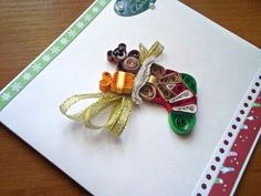 Quilling Christmas Card Handmade Christmas by KateCreatesSerenity