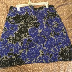 Flower Print Skirt Perfect with a pair of leggings or tights!  Cute skirt purchased at Banana Republic. NWOT Banana Republic Skirts