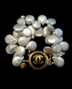 Chanel button bracelet.