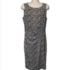 "Ann Taylor Sz 6 Black White Sleeveless Dress  Ann Taylor  Sz 6  Black & White  Length 39""  Bust 34-36  Stretch  new without tags  Ann Taylor Dresses"