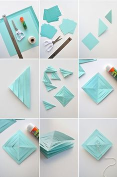 Discover recipes, home ideas, style inspiration and other ideas to try. Diy And Crafts, Crafts For Kids, Paper Crafts, Diy Girlande, Papier Diy, Diy Y Manualidades, Hanging Garland, Noel Christmas, Comme Des Garcons