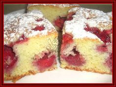 Kouzelná vařečka: Jahodová bublanina Slovak Recipes, Czech Recipes, Healthy Dessert Recipes, Baking Recipes, Czech Desserts, Desert Recipes, Food Design, Sweet Recipes, Sweet Tooth