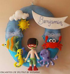 guirlanda fundo do mar www.facebook.com/encantosdefeltrobyrosana