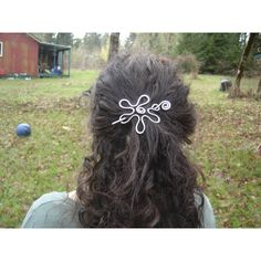Groovy Flower Hair Pin Hair Clip Barrette Hair Slide Shawl Pin Sweater... ($22) ❤ liked on Polyvore featuring accessories, hair accessories, barrettes & clips, grey, barrette hair clips, crochet flower hair clip, long hair accessories, long shawl and flower hair accessories
