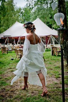 Festival bruiloft, hoe gaaf!