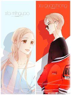 Anime Couples Manga, Cute Anime Couples, Anime Guys, Anime Art Girl, Manga Art, Cherry Blossom Art, Digital Art Anime, Chibi Girl, Anime Love Couple
