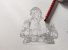 Nick frost smash! Sketch of fight scene in 'the worlds end'