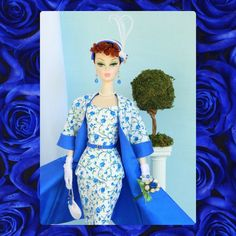 *Blue Roses* OOAK Fashion for Silkstone/Vintage Barbie/Fashion Royalty~Joby #JobyOriginals