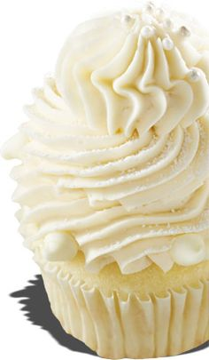 "(Pic Only) Gigi's Cupcakes | Champagne White champagne cake with a champagne cream cheese frosting with edible pearls and white chocolate.  ""What a delicate and beautiful creation with a tangy sweet flavor of sparkling white grape juice. This is one of my absolute favorites. It is perfect for weddings or any elegant event."" - Gigi"