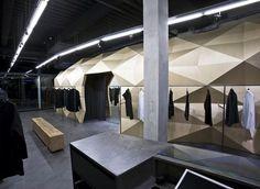 Image 17 of 32 from gallery of Lurdes Bergada / Dear design. Photograph by Pol Cucala Design Blog, Store Design, Creative Design, Dark Interiors, Shop Interiors, Visual Merchandising, Acoustic Architecture, Moda Barcelona, Boutique Interior Design