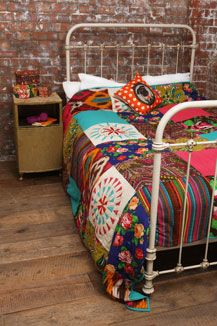 I want this ! Ikat Patchwork Quilt