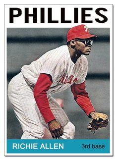 Dick Allen Hall of Fame: DA card redux project Phillies Baseball, Baseball Star, Baseball Socks, Giants Baseball, Better Baseball, Baseball Cards, Football, Game Live, Baseball Catchers Gear