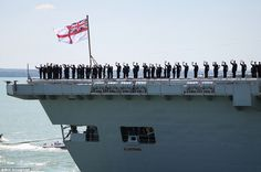 Hats off: Illustrious' entry into service was brought forward so she could assist in the Falklands War effort in 1982 Hms Illustrious, Royal Navy Aircraft Carriers, Falklands War, Navy Ships, Submarines, Portsmouth, Battleship, Random Things, Effort
